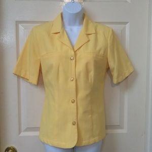 Sag Harbor NWOT Yellow Short Sleeve Blazer Buttons
